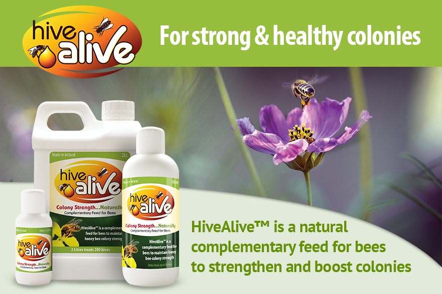 HiveAlive is a natural complementary feed for bees to strenghten and boost colonies