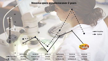 HiveAlive proven to reduce Nosema