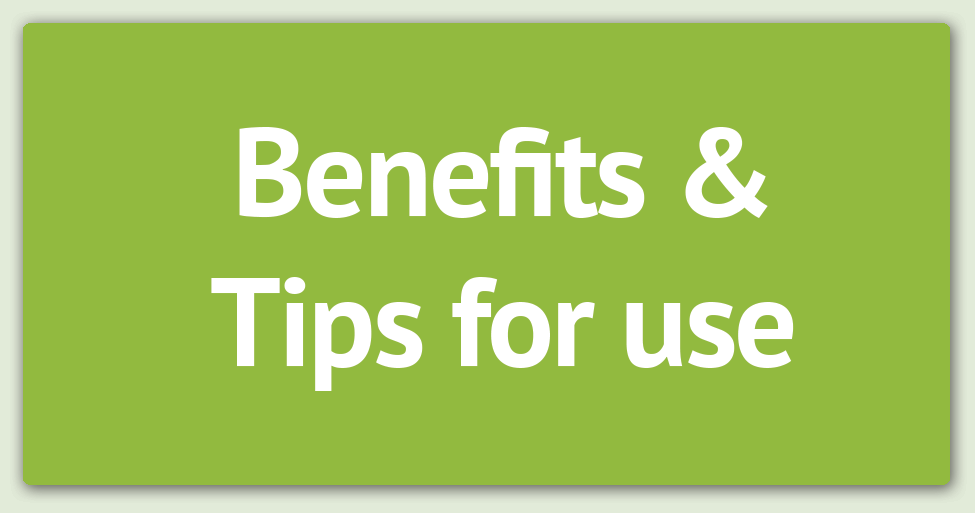 benefits and tips for use v2